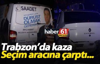 Trabzon'da seçim aracına çarptılar; 3 yaralı