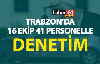 Trabzon'da 16 Ekip 41 personelle Araç kiralama...