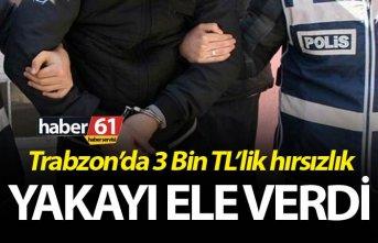 Trabzon'da 3 Bin TL'lik hırsızlık - Yakayı...