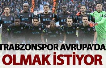 Trabzonspor Avrupa'da olmak istiyor