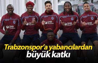 Trabzonspor'a yabancılardan büyük katkı