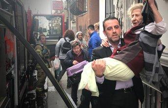 İstanbul'da yangın! Yaşlı kadın...