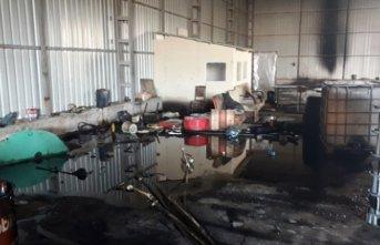 Kaçak akaryakıt üretilen tesisten görüntü