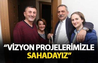 """Sağıroğlu: """"Vizyon projelerimizle sahadayız"""""""