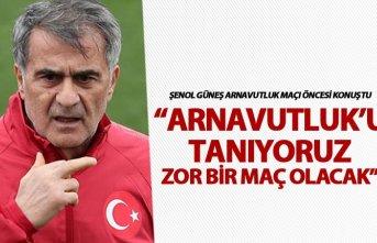 """Şenol Güneş: """"Arnavutluk'u tanıyoruz"""""""