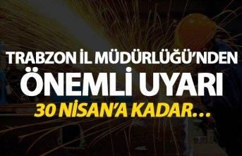 Trabzon'da Sanayicilere önemli uyarı