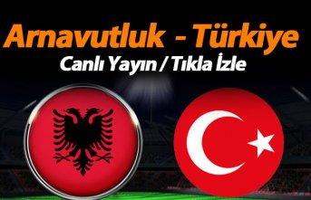 Arnavutluk Türkiye maçı canlı yayını - TRT 1...