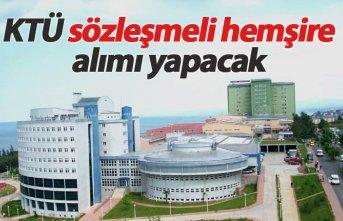 KTÜ Farabi Hastanesi sözleşmeli hemşire alımı...