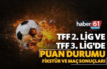 TFF 2. Lig ve TFF 3. Lig'de Puan Durumu, Fikstür...
