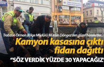 """Trabzon Orman Bölge Müdürü Mümin Döngez: """"Söz verdik yüzde 30 yapacağız"""""""