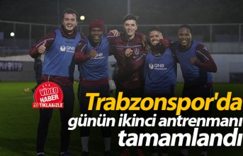 Trabzonspor'da günün ikinci antrenmanı tamamlandı