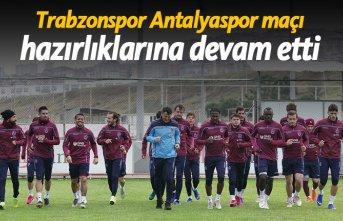 Trabzonspor'un Antalyaspor maçı hazırlıkları devam ediyor