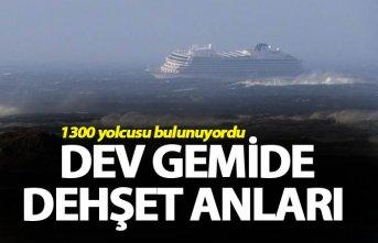 Cruise gemisinde dehşet anları - 479 kişi kurtarıldı