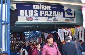 Edirne'ye Balkanlardan alışveriş akını