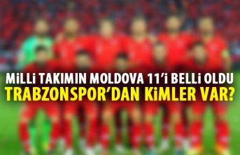 Milli takımın Moldova 11'i belli oldu