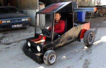 Hayalini kurduğu otomobili yaparak gerçekleştirdi