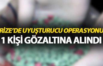 Rize'de uyuşturucu operasyonu - 1 kişi gözaltına...