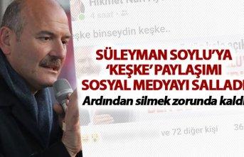 Süleyman Soylu'ya 'keşke' paylaşımı sosyal medyayı salladı - AK Parti'den açıklama