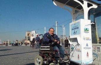 Taksim'de engelliler yine mağdur
