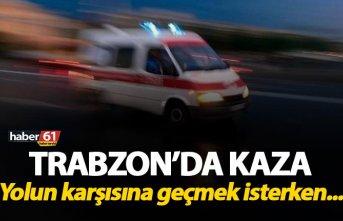 Trabzon'da kaza - Yolun karşısına geçmek isterken...
