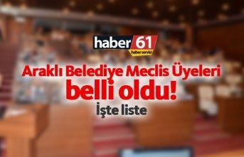 Araklı Belediye Meclis Üyeleri Listesi belli oldu