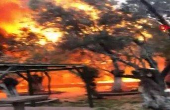 Çanakkale Assos bölgesinde otel yangını