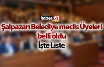Şalpazarı Belediye Meclis Üyeleri Listesi belli oldu