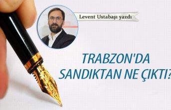 Trabzon'da sandıktan ne çıktı?