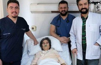 105 yaşında hayata yeniden tutundu