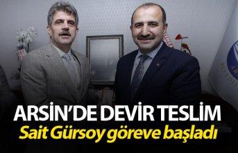 Arsin'de Devir Teslim - Sait Gürsoy göreve başladı