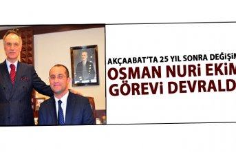 Akçaabat'ta Osman Nuri Ekim görevi devraldı