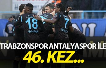 Trabzonspor Antalyaspor ile 46. kez...