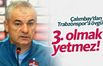 Rıza Çalımbay: Trabzonspor'a 3.lük yetmez