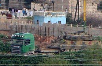 YPG'li teröristlerin konvoyu görüntülendi