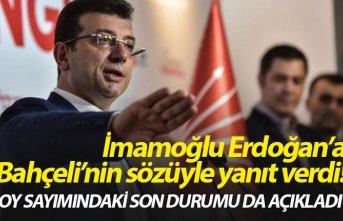 İmamoğlu, Erdoğan'a Bahçeli'nin sözüyle...