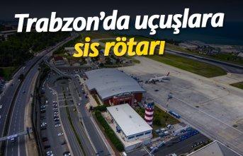 Trabzon'da uçaklara sis rötarı!