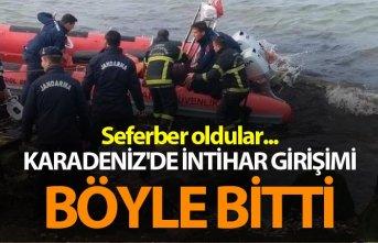 Karadeniz'de intihar girişimi böyle bitti -...
