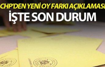 CHP'den yeni oy farkı açıklaması