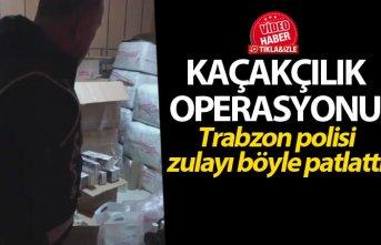 Trabzon'da kaçakçılık operasyonu - Trabzon polisi...