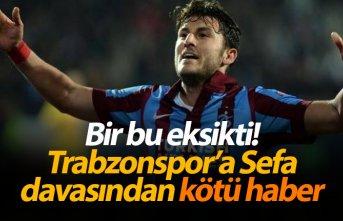 Trabzonspor'a bir kötü haber de Sefa Yılmaz...