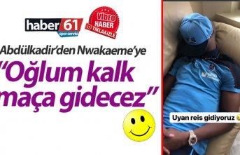 Trabzonspor'da Abdülkadir Parmak'dan Nwakaeme'ye:...