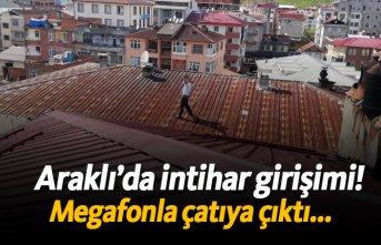 Araklı'da intihar girişimi!