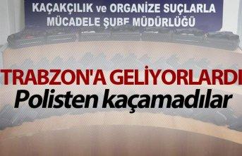 Trabzon'a geliyorlardı - Polisten kaçamadılar