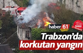 Trabzon'da çatı yangını