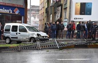 Trabzon'da korkutan trafik kazası!