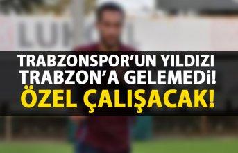 Trabzonspor'un yıldızı antrenmana gelmedi
