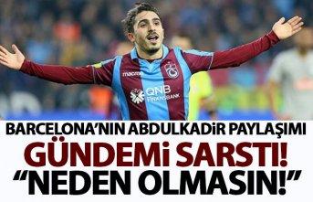 Barcelona'dan heyecanlandıran Abdulkadir Ömür...