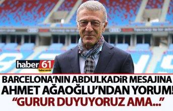"""Ağaoğlu: """"İntikam kelimesi Trabzonspor'a yakışmaz"""""""