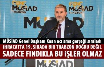 MÜSİAD Genel Başkanı Kaan Trabzon için acı gerçekleri sıraladı