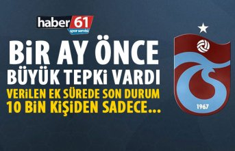 Trabzonspor'da borcu olan 10 bin kişiden kaçı aidatını yatırdı